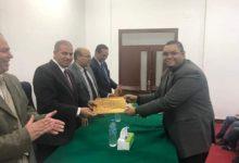 صورة رئيس جامعة الأزهر يشهد تخريج الدفعة الأولى بمركز الهندسة الوراثية