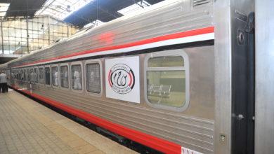 صورة وزير النقل : القطار السريع من العين السخنة إلي العلمين