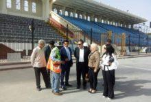 صورة وزير الرياضة يتفقد إستاد الاسكندرية  ويوجه بسرعة الانتهاء من أعمال التطوير