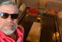 """صورة شريف منير يزور ضريح الملك محمد الخامس """"أحد معالم مدينة الرباط"""""""