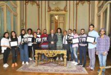 """صورة جامعة عين شمس تكرم الطلبة الأوائل في مسابقة """"إبداع 7"""""""