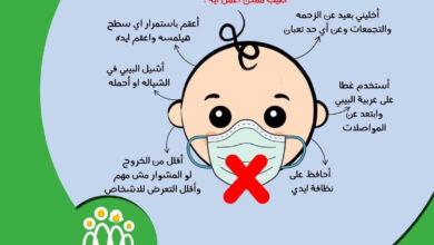 صورة الصحة تحذر من ارتداء الأطفال حديثى الميلاد كمامات كورونا.. إنفوجراف