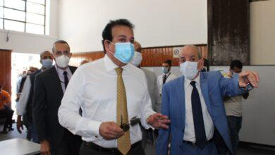 صورة وزير التعليم العالي يتفقد  مبنى الوزارة في مدينة نصر
