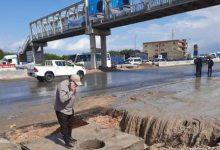 صورة محافظة الاسكندر ية تدفع بسيارات شفط مياه الأمطار من على الطرق السريعة